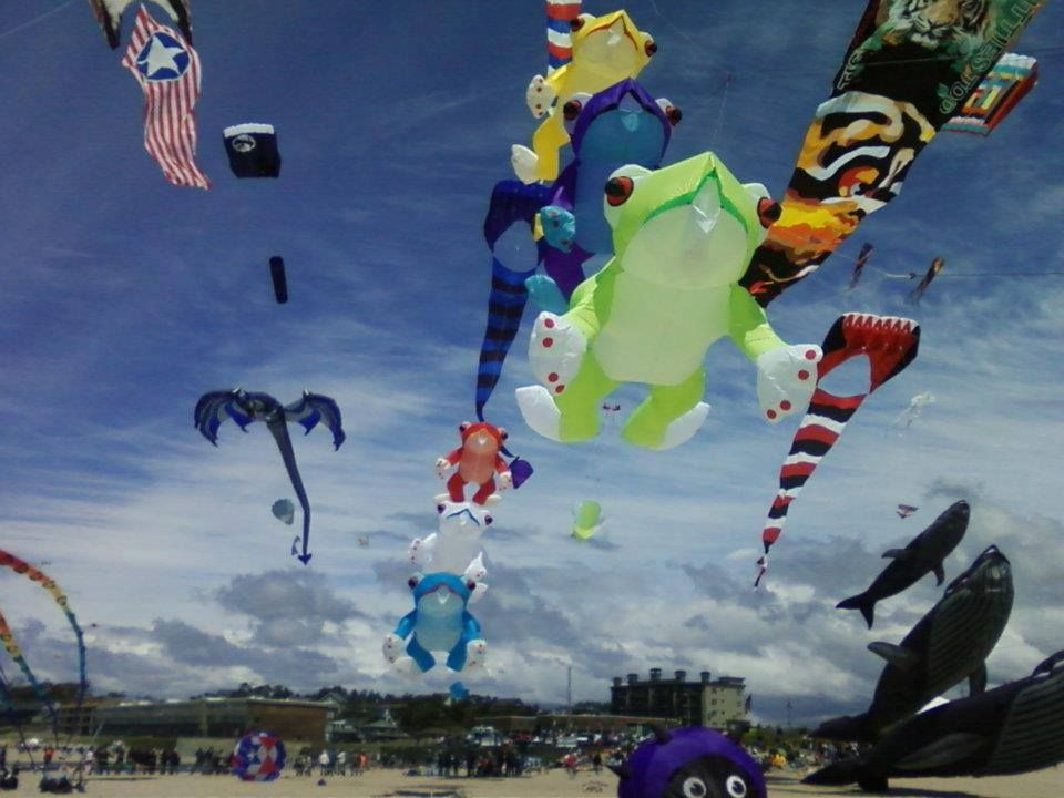 'The kite festival' (Rockaway has more than a dozen different festivals yearly)