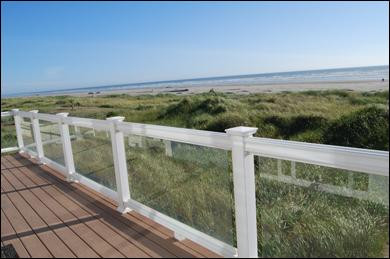 Oceanfront views from the deck