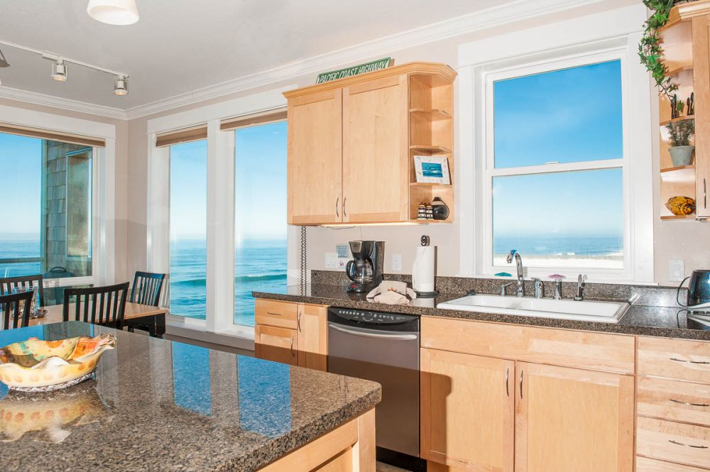 Each condo has a fully equipped kitchen Fitness Center at Pacific Winds - Book Now at www.KeystoneVacationsOregon.com