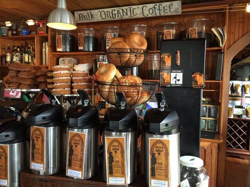 Around the corner from Sleepy Monk Coffee