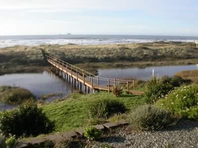 Private foot bridge to 7mi of sandy beach