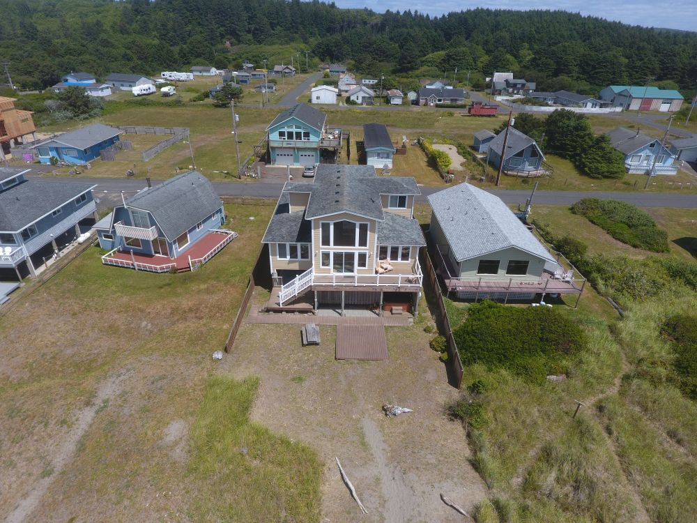 From the air - Moonstone Beach House