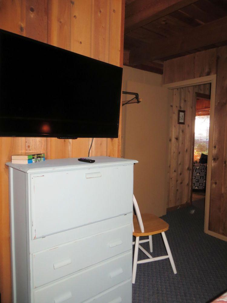 TV & Drop Leaf desk in King Bedroom