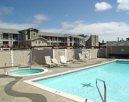 Seasonal heated pool is open mid-May through mid-Oct depending on weather; hot tub is open year round