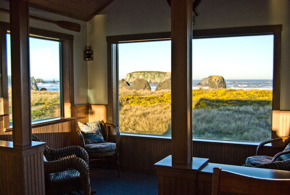 Enjoy the sunrise  from the Coast Watch Room as well as spectacular