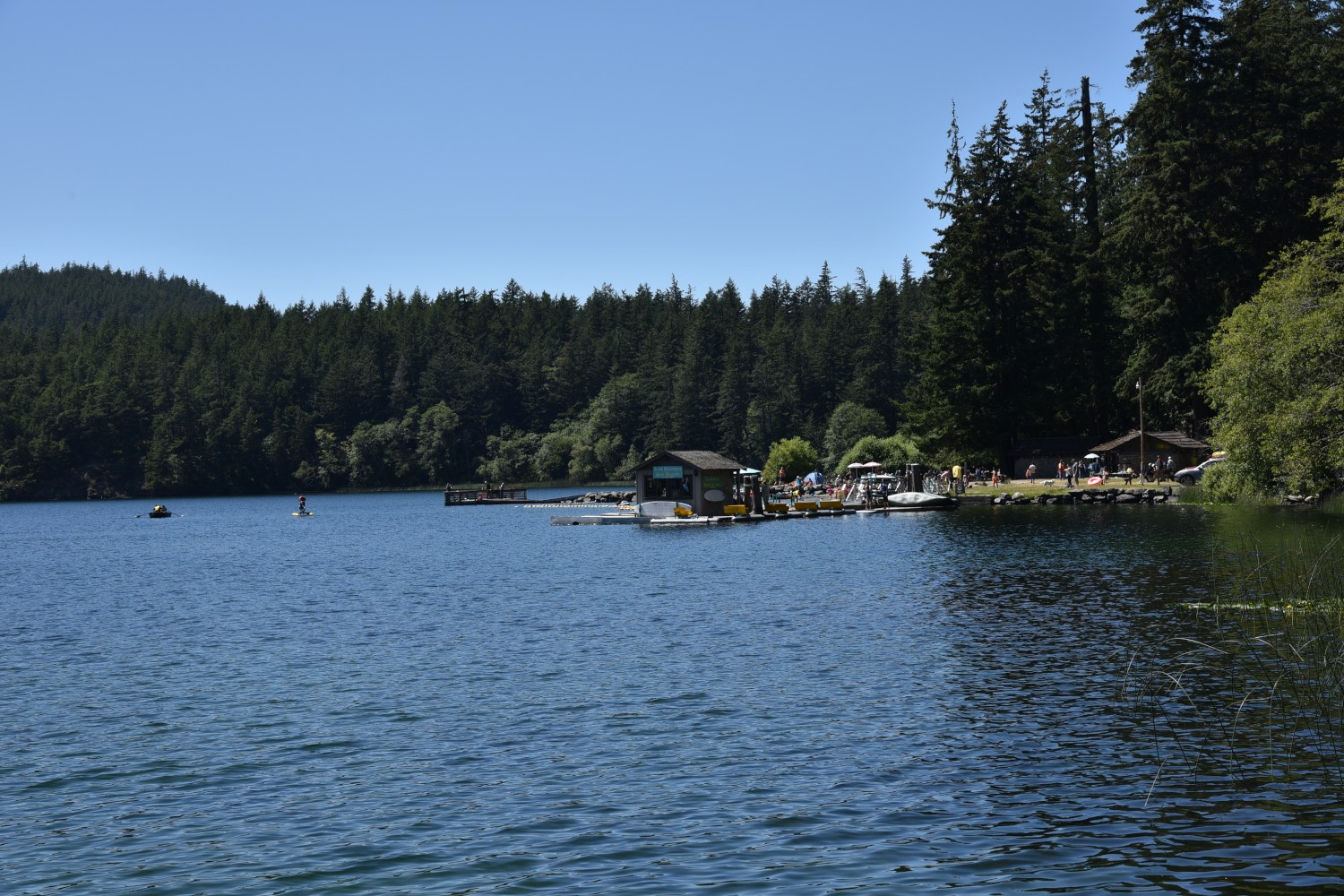 Lovely Cascade Lake in Moran State Park is a wonderful children's playground and only a 15 minute drive away.