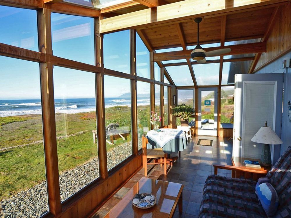 SUNROOM - a place to take in the views, sounds and the expanse of Pacific Ocean