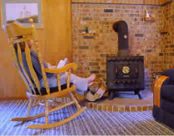 Relaxing by Woodstove