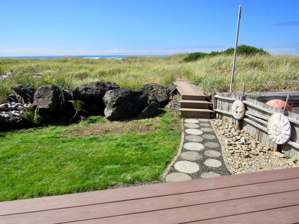 Beach side deck and trail to beach