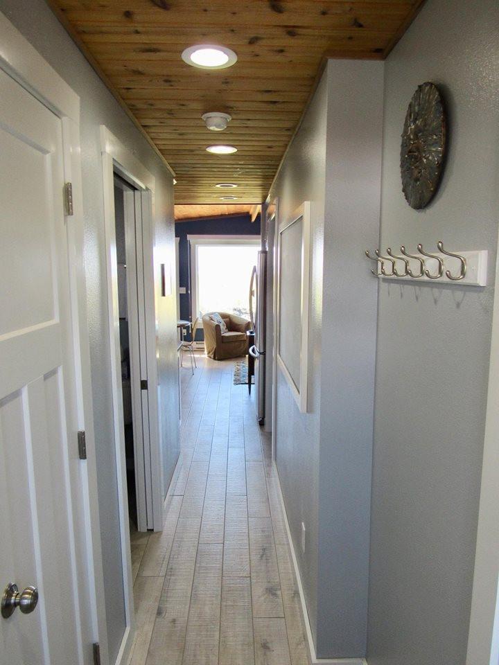 Hallway from front door with view to ocean